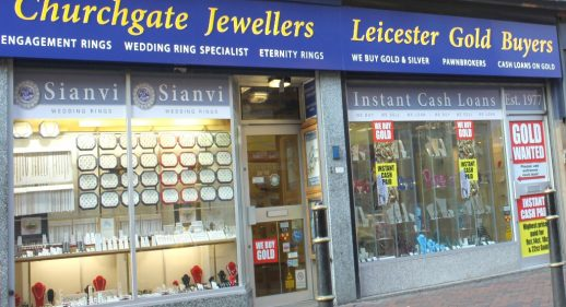 leicester gold buyers shop front