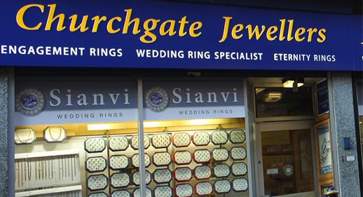 Churchgate Jewellers Shop Front